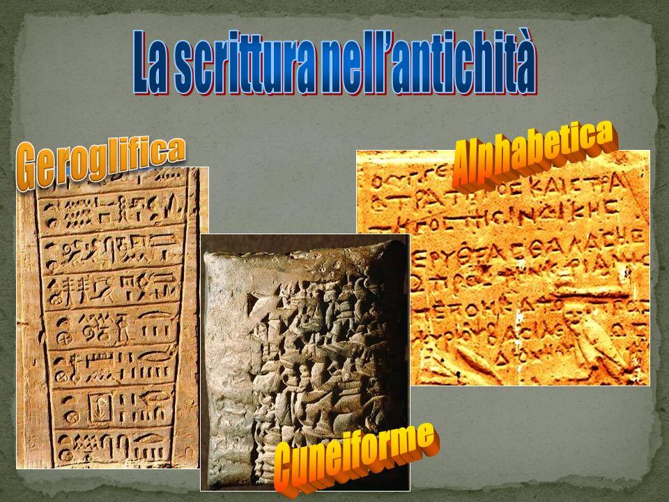La scrittura nell'antichità