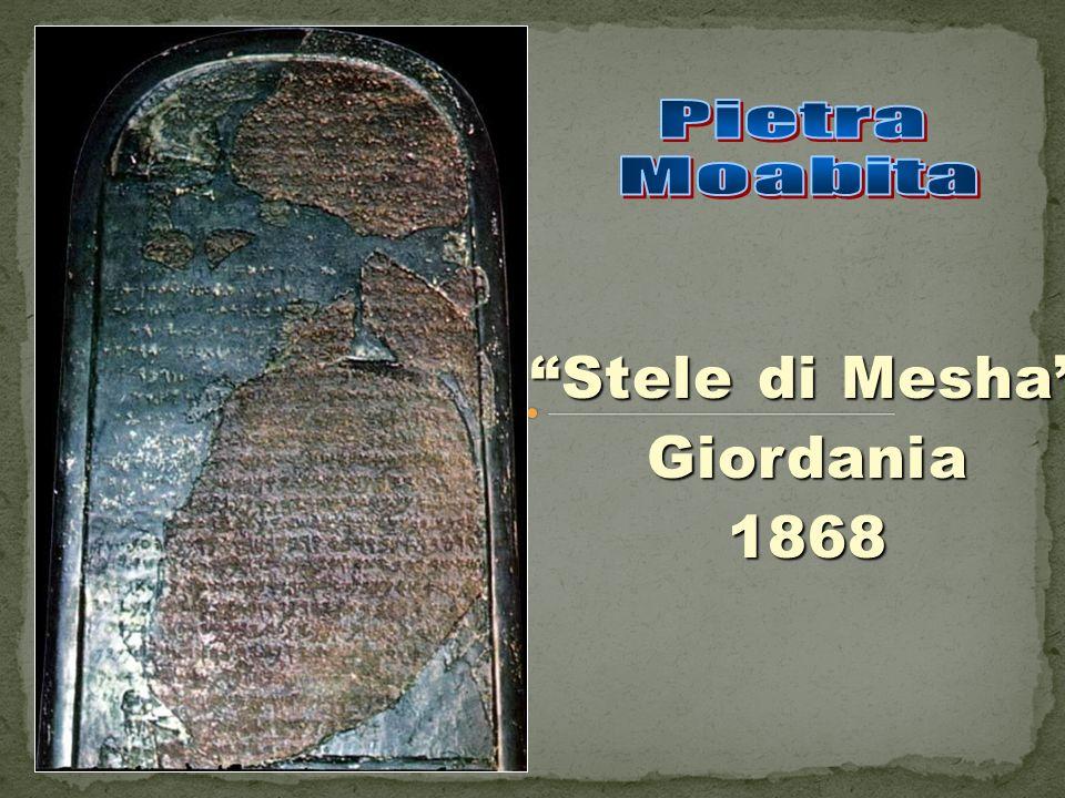 Stele di Mesha Giordania 1868