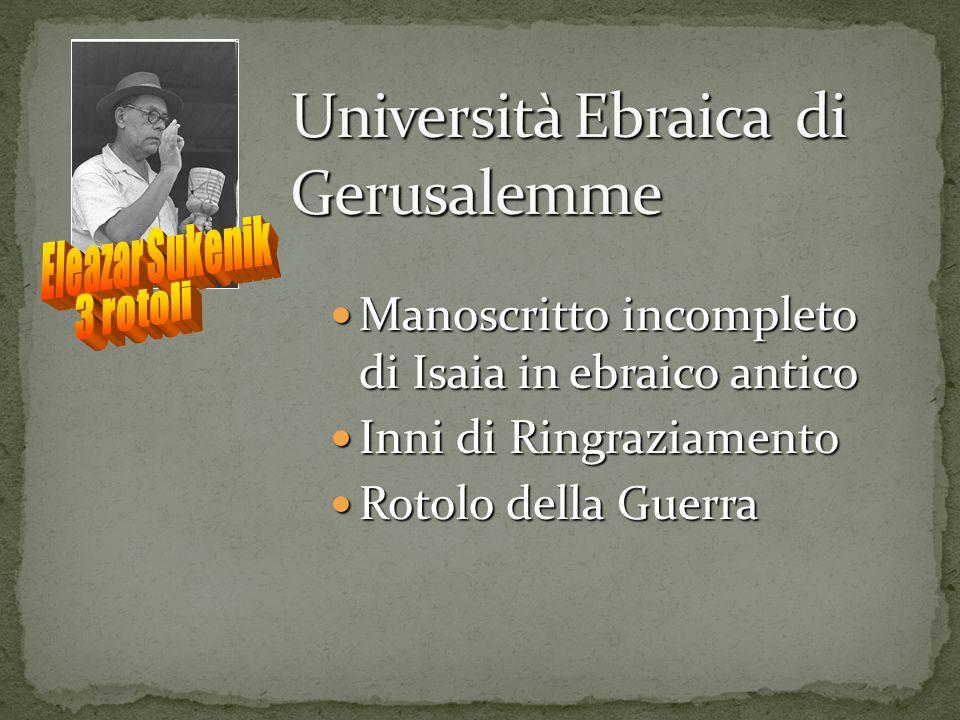 Università Ebraica di Gerusalemme