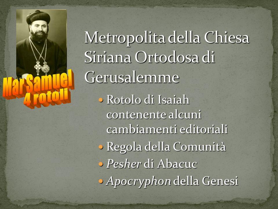 Metropolita della Chiesa Siriana Ortodosa di Gerusalemme