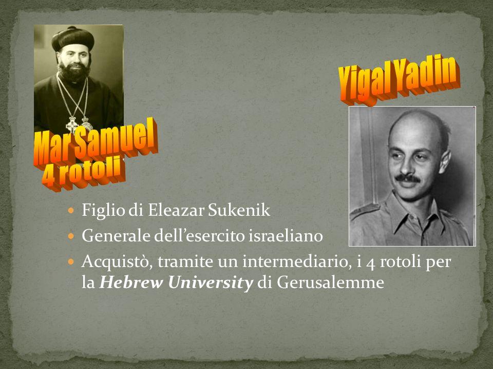 Mar Samuel 4 rotoli Yigal Yadin