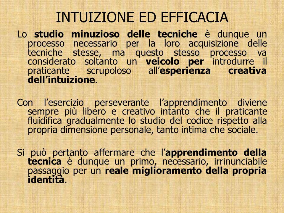 INTUIZIONE ED EFFICACIA