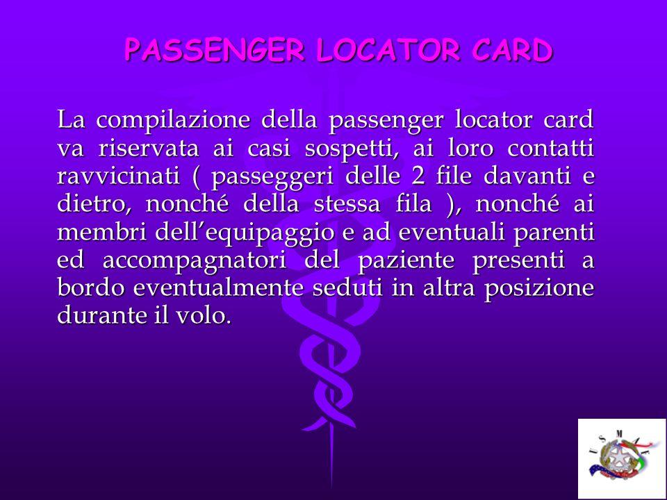 PASSENGER LOCATOR CARD