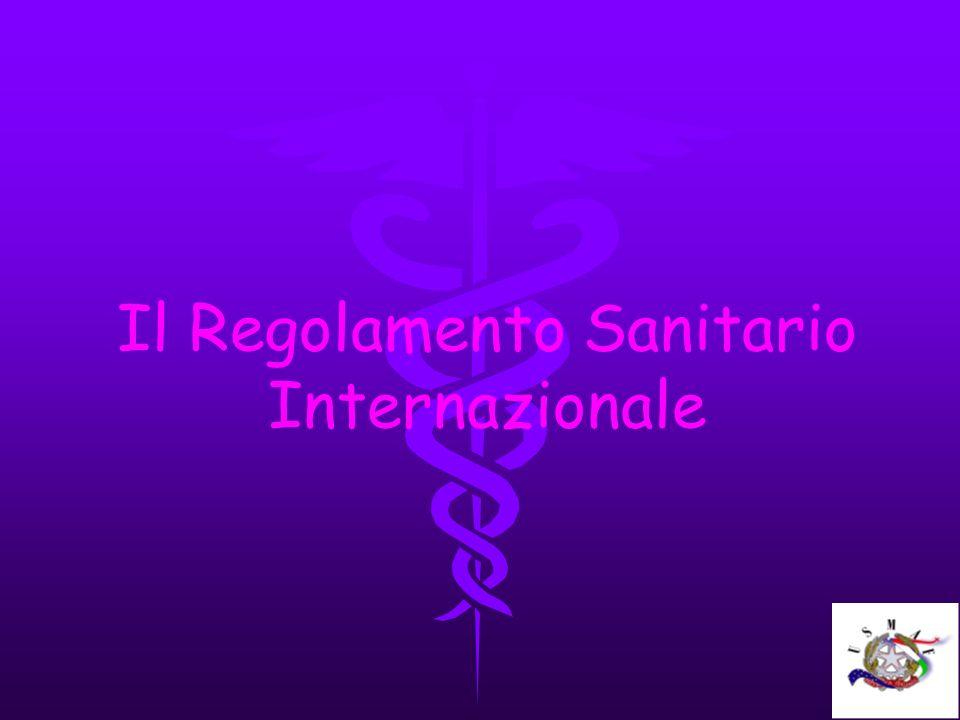 Il Regolamento Sanitario Internazionale