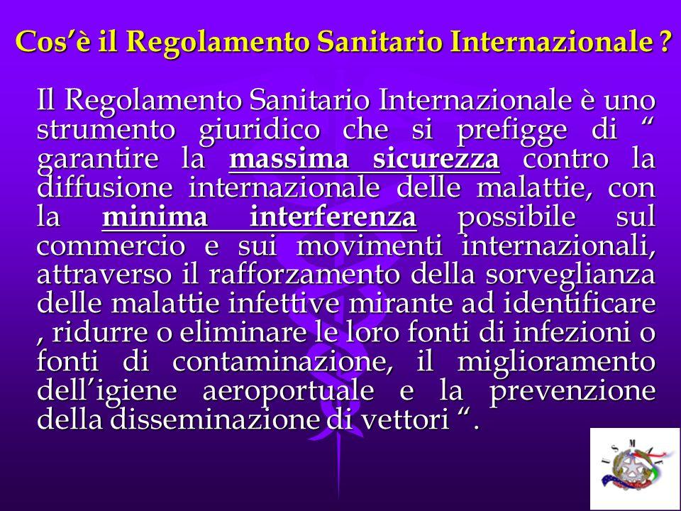 Cos'è il Regolamento Sanitario Internazionale