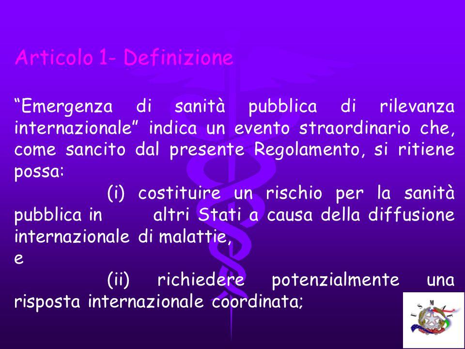 Articolo 1- Definizione