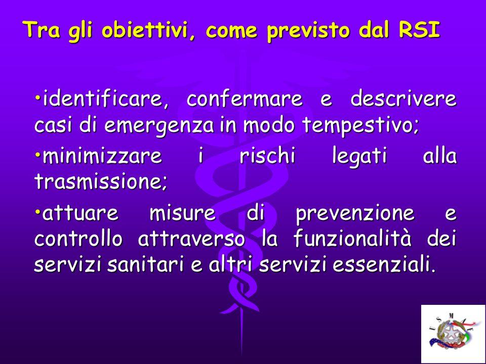 Tra gli obiettivi, come previsto dal RSI