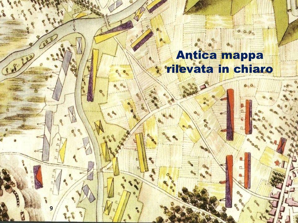 Antica mappa rilevata in chiaro