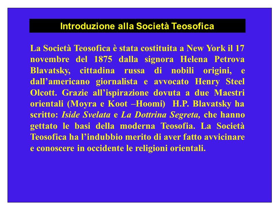 Introduzione alla Società Teosofica