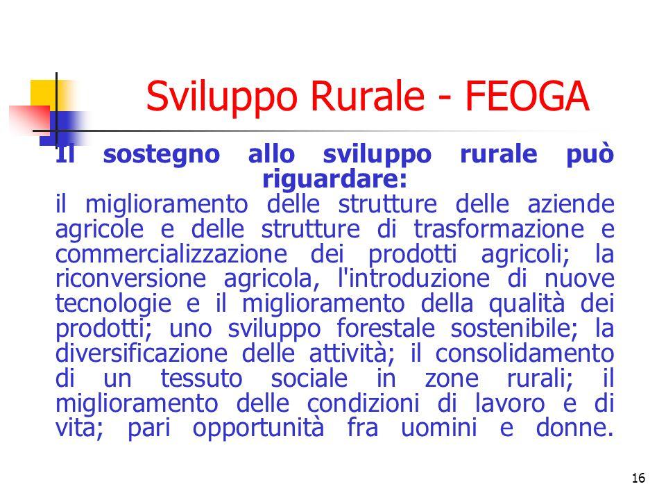 Sviluppo Rurale - FEOGA