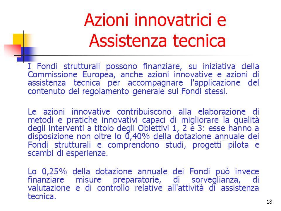 Azioni innovatrici e Assistenza tecnica