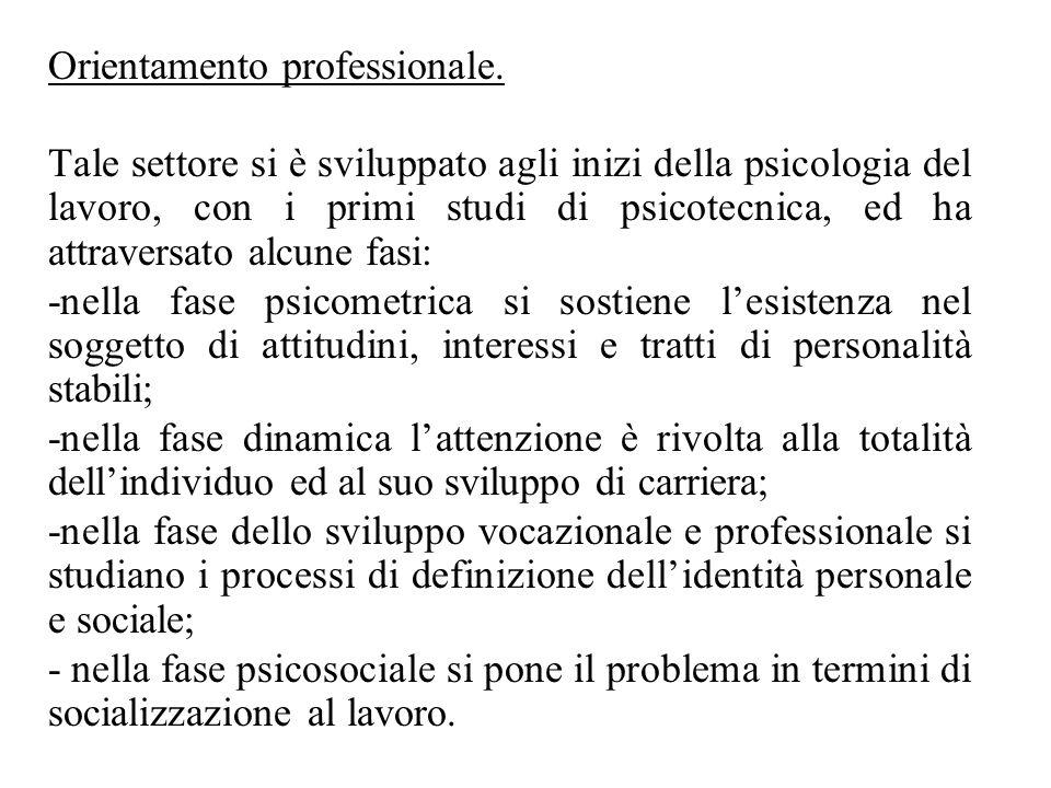 Orientamento professionale.
