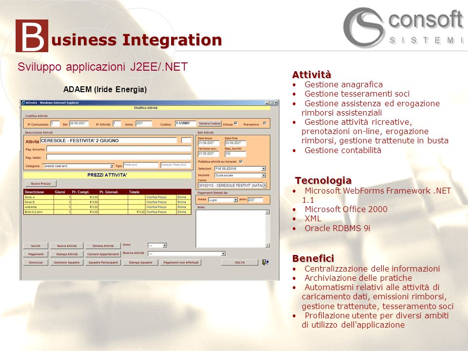 Sviluppo applicazioni J2EE/.NET