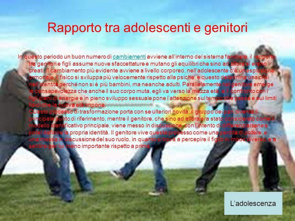 Rapporto tra adolescenti e genitori