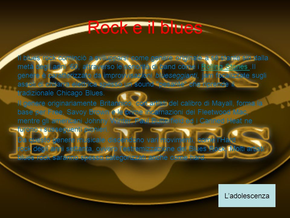 Rock e il blues