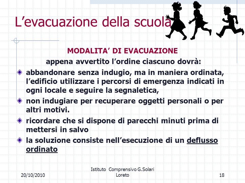L'evacuazione della scuola