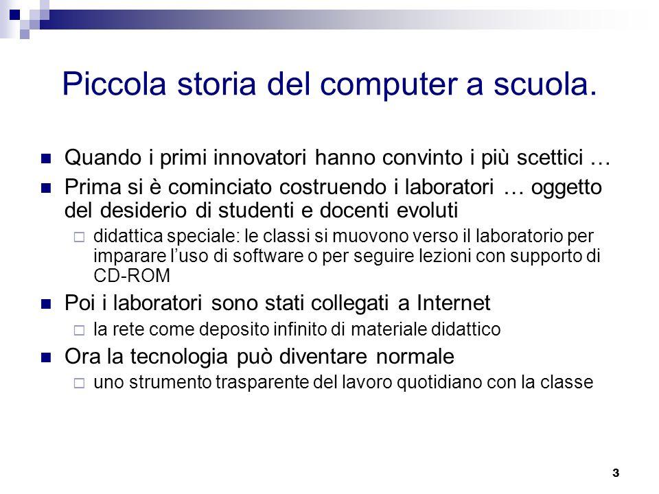 Piccola storia del computer a scuola.