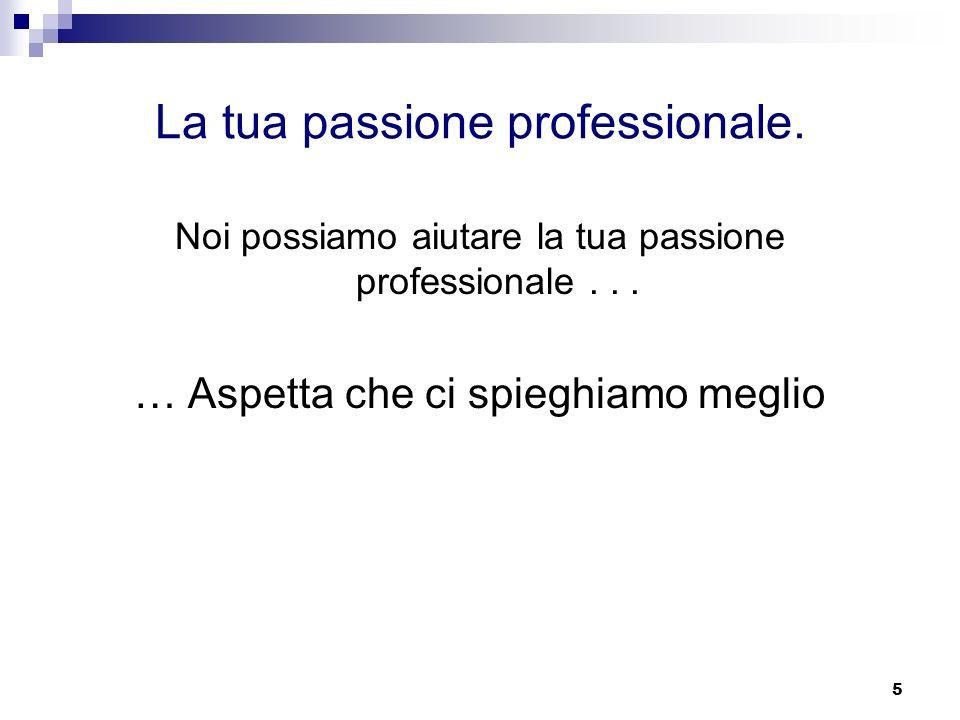 La tua passione professionale.
