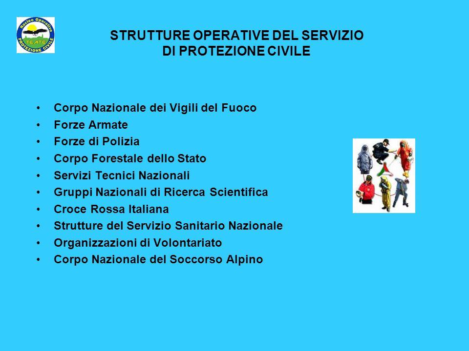 STRUTTURE OPERATIVE DEL SERVIZIO DI PROTEZIONE CIVILE
