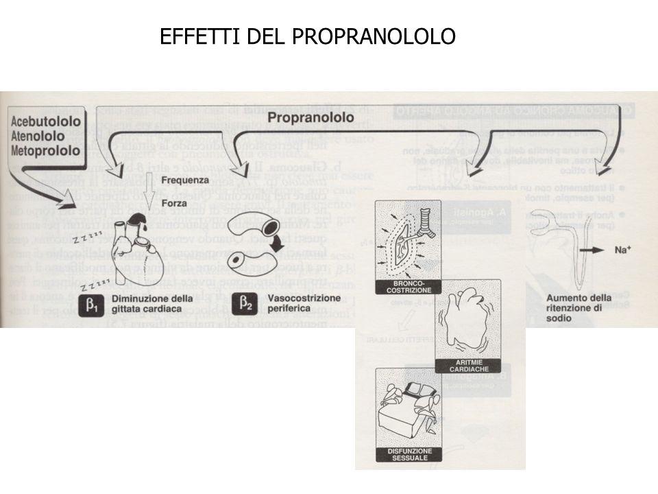 EFFETTI DEL PROPRANOLOLO