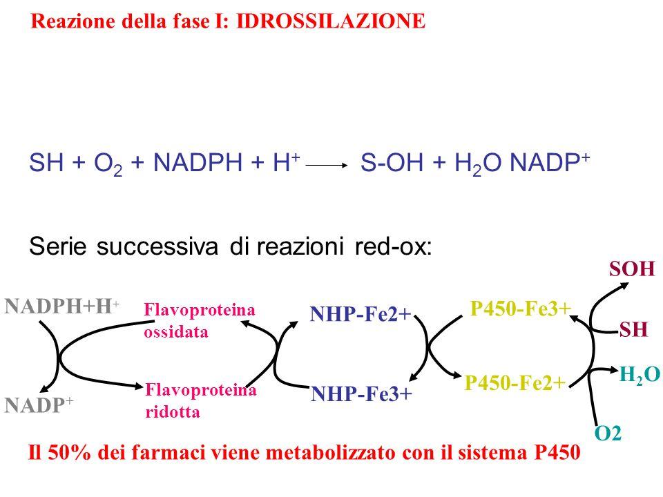 SH + O2 + NADPH + H+ S-OH + H2O NADP+