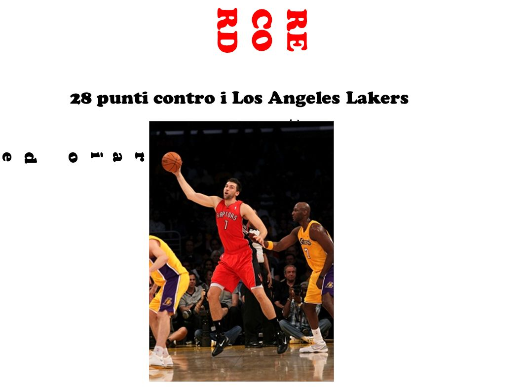 RECORD 28 punti contro i Los Angeles Lakers