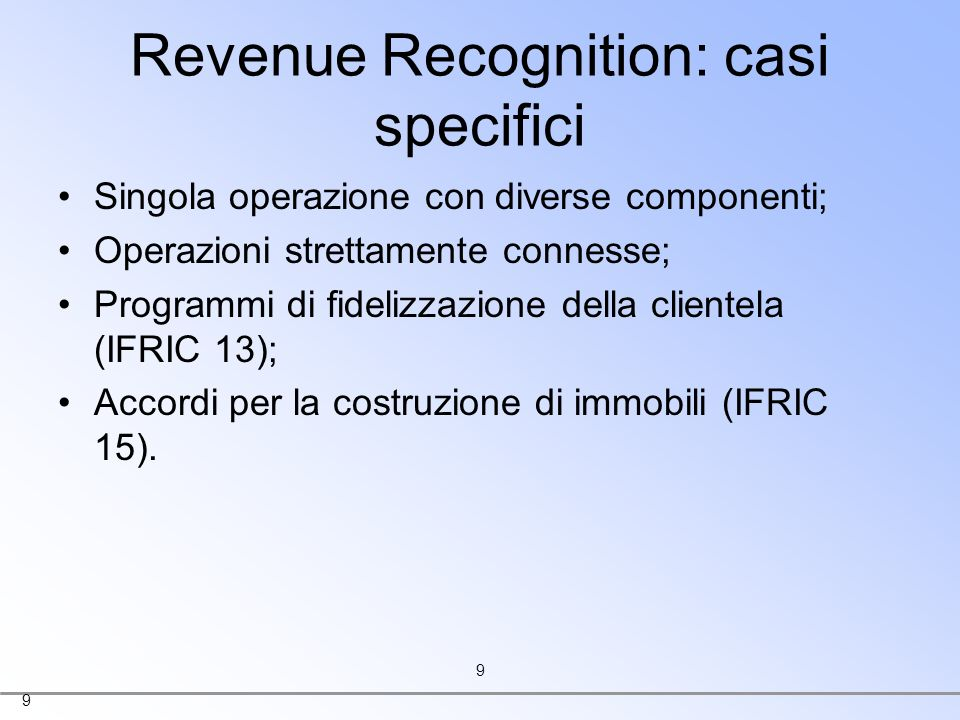 Revenue Recognition: casi specifici