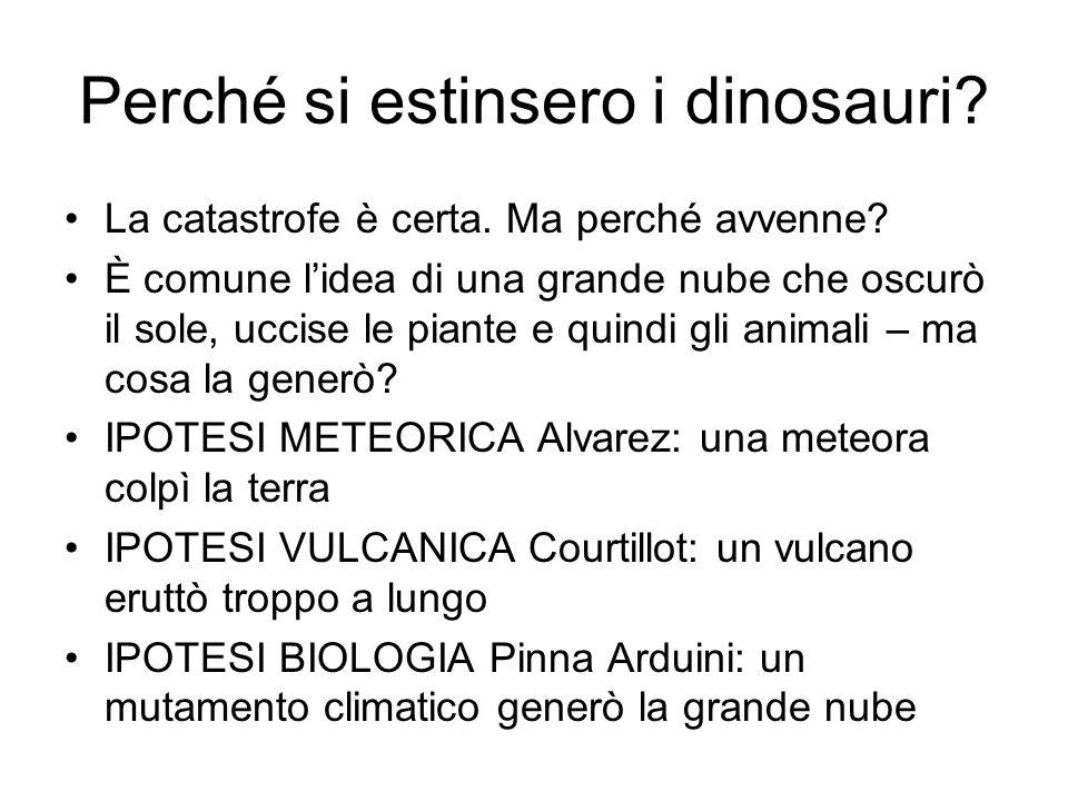 Perché si estinsero i dinosauri