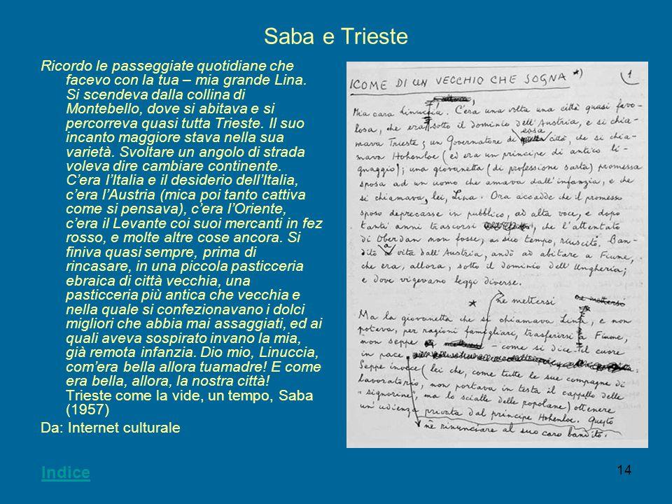 Saba e Trieste