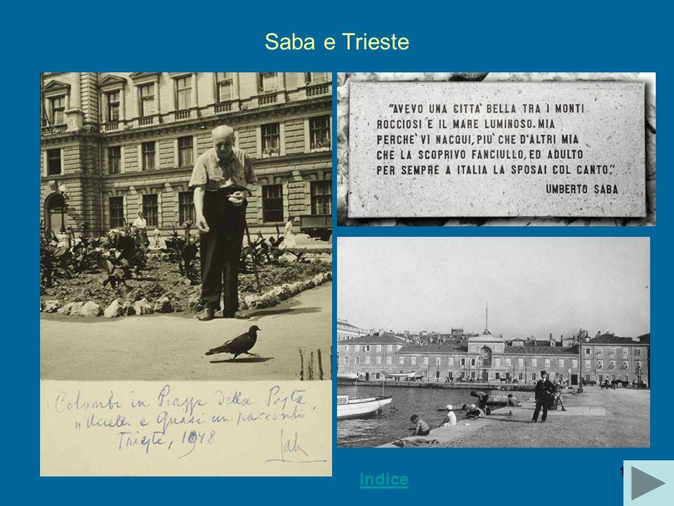 Saba e Trieste Indice