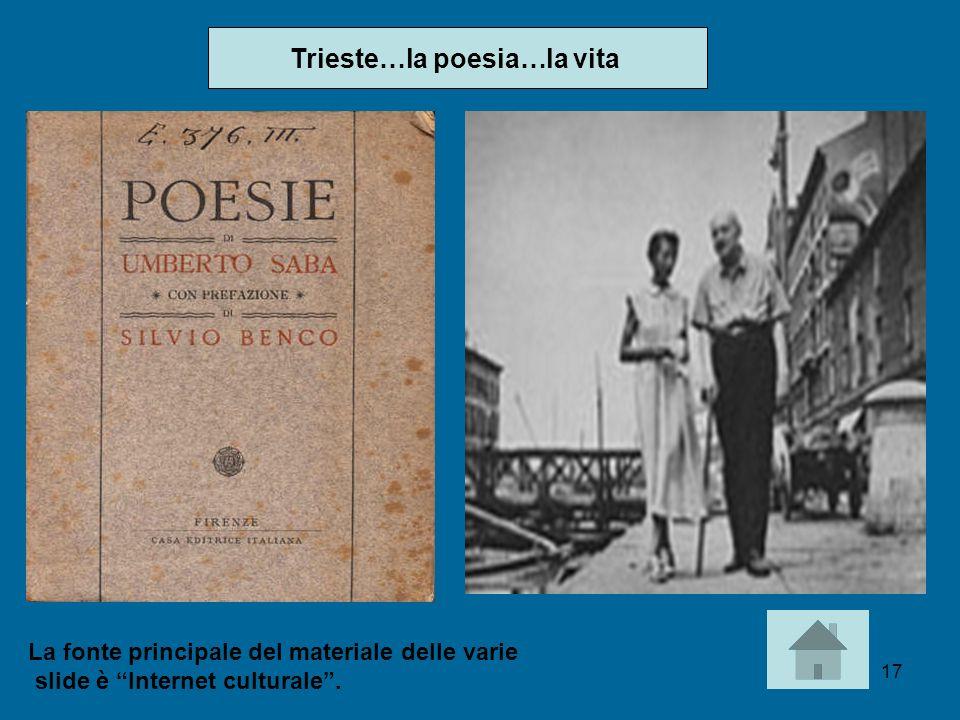 Trieste…la poesia…la vita