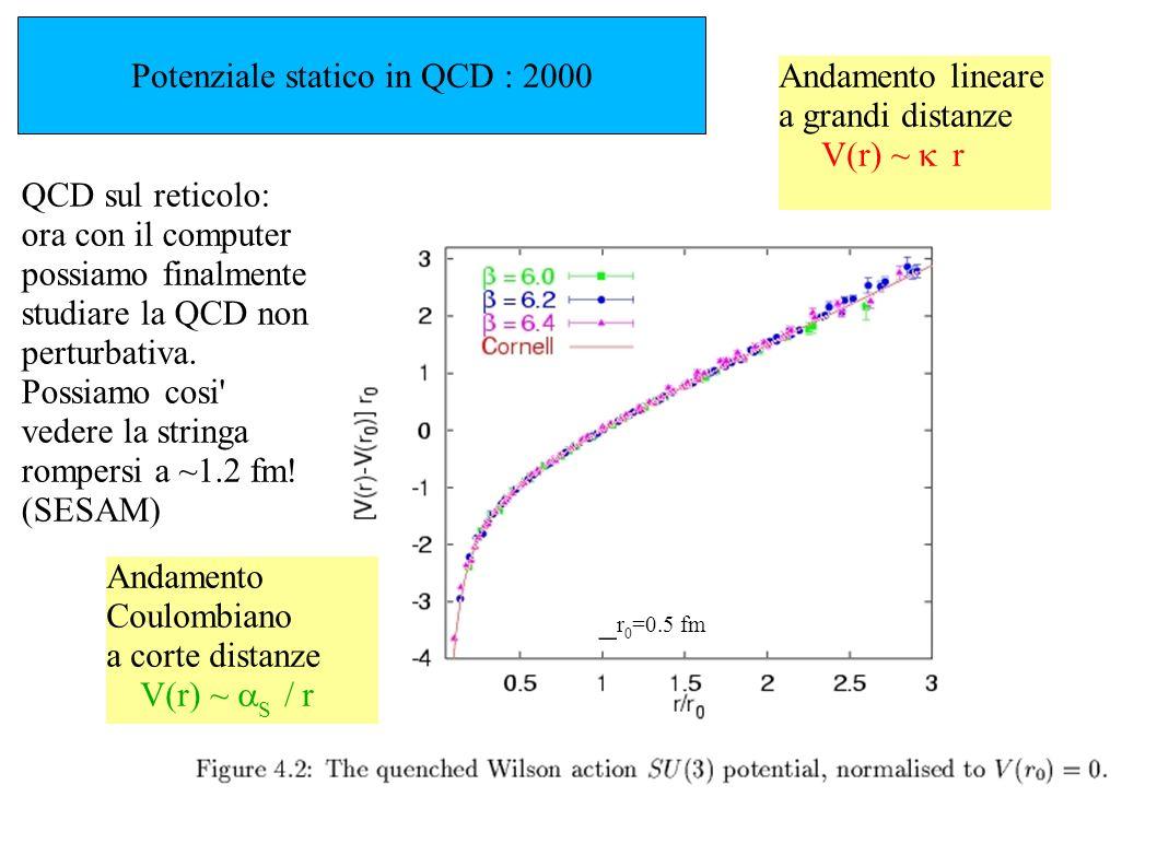 Potenziale statico in QCD : 2000