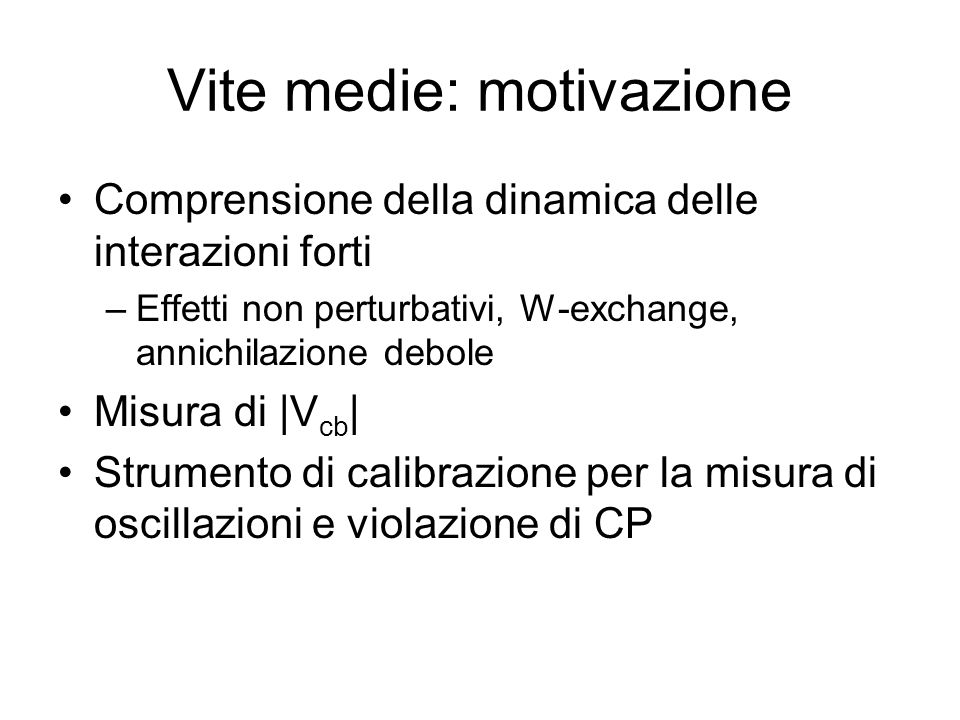 Vite medie: motivazione