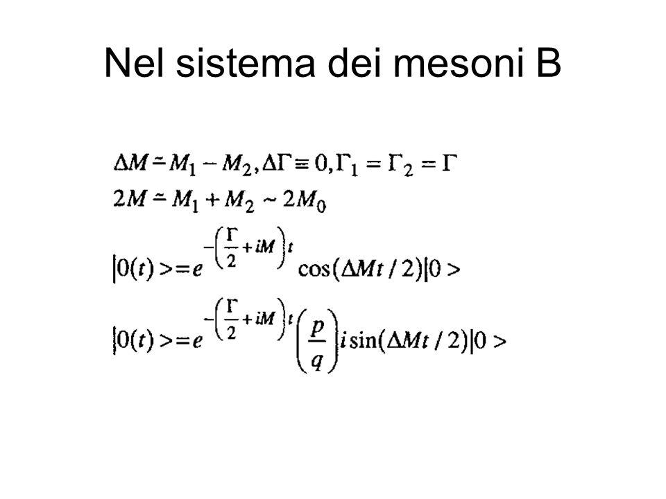 Nel sistema dei mesoni B