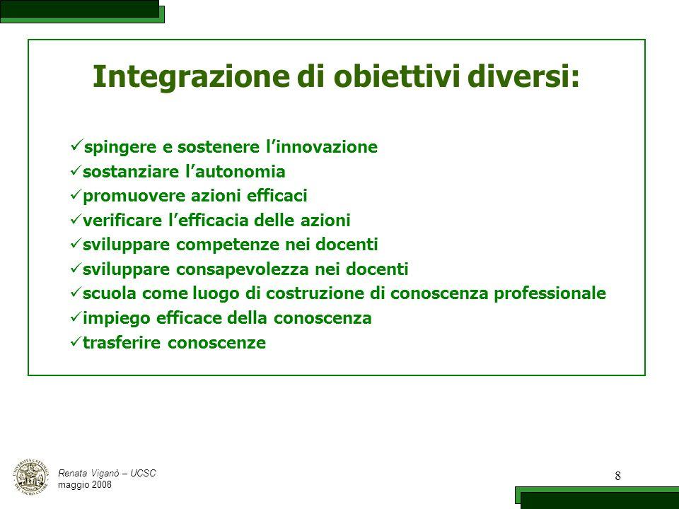 Integrazione di obiettivi diversi: