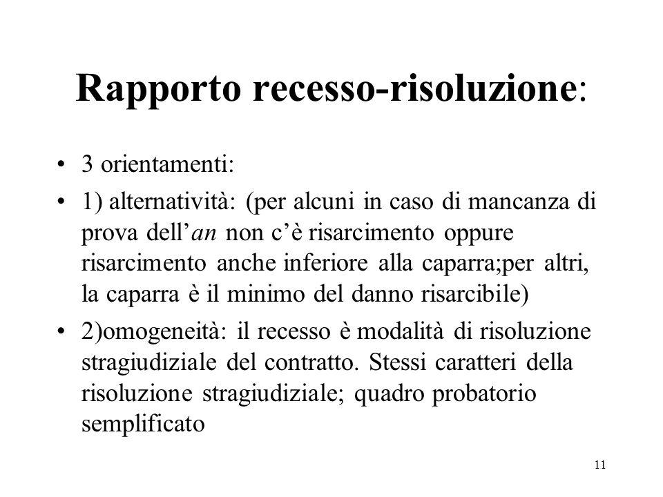 Rapporto recesso-risoluzione: