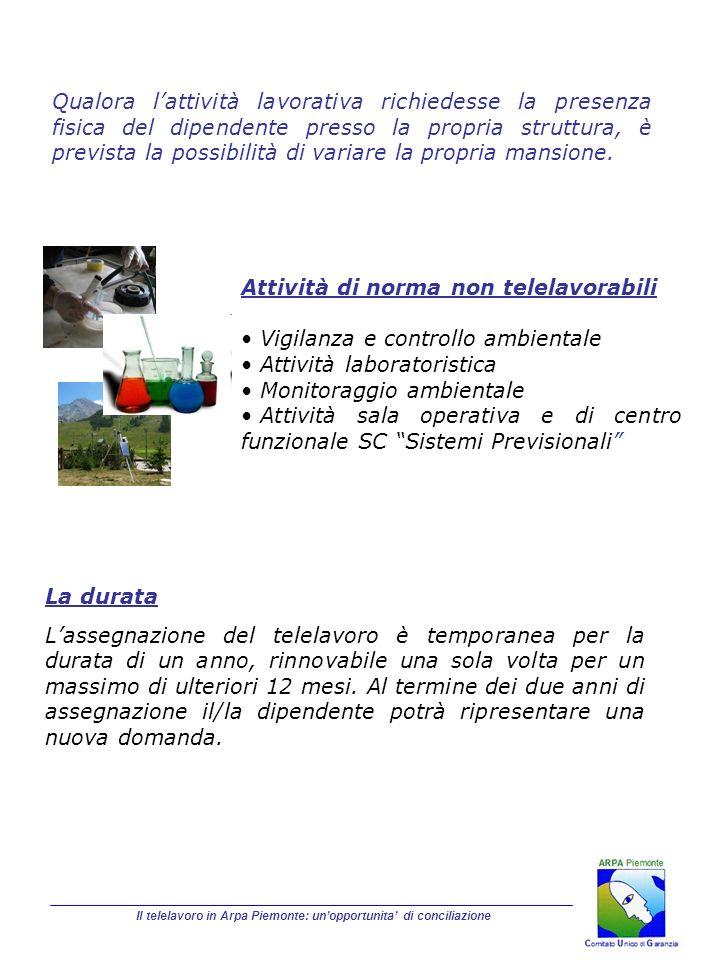 Il telelavoro in Arpa Piemonte: un'opportunita' di conciliazione