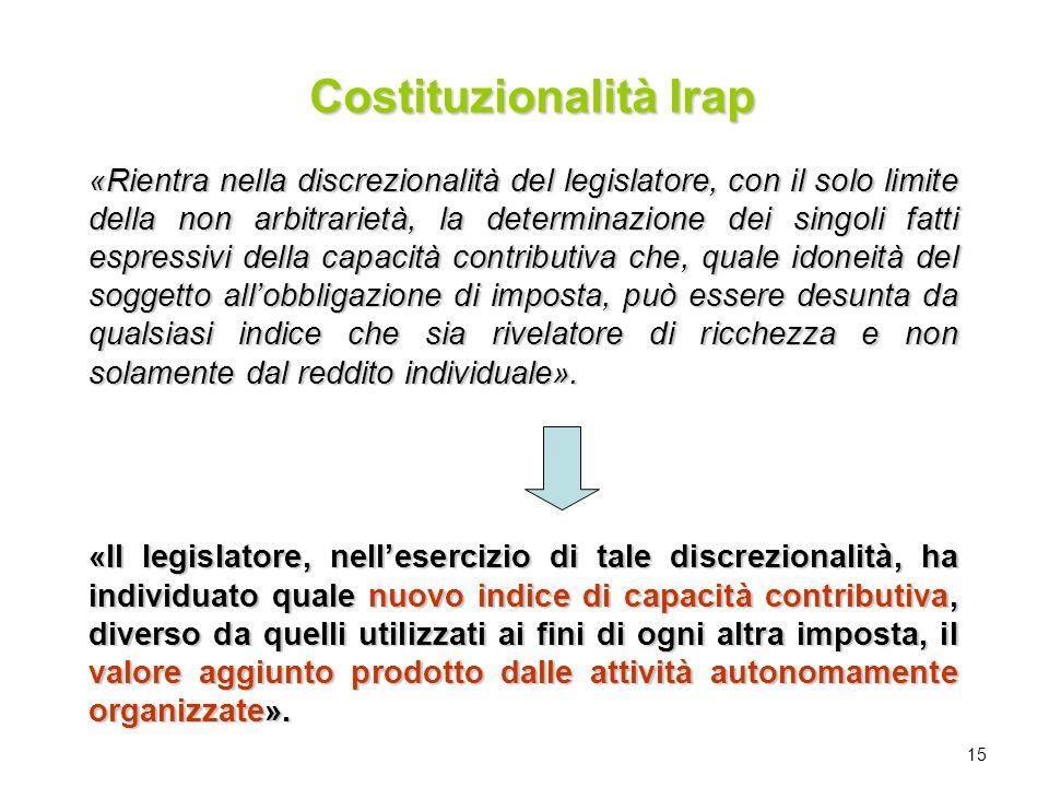 Costituzionalità Irap