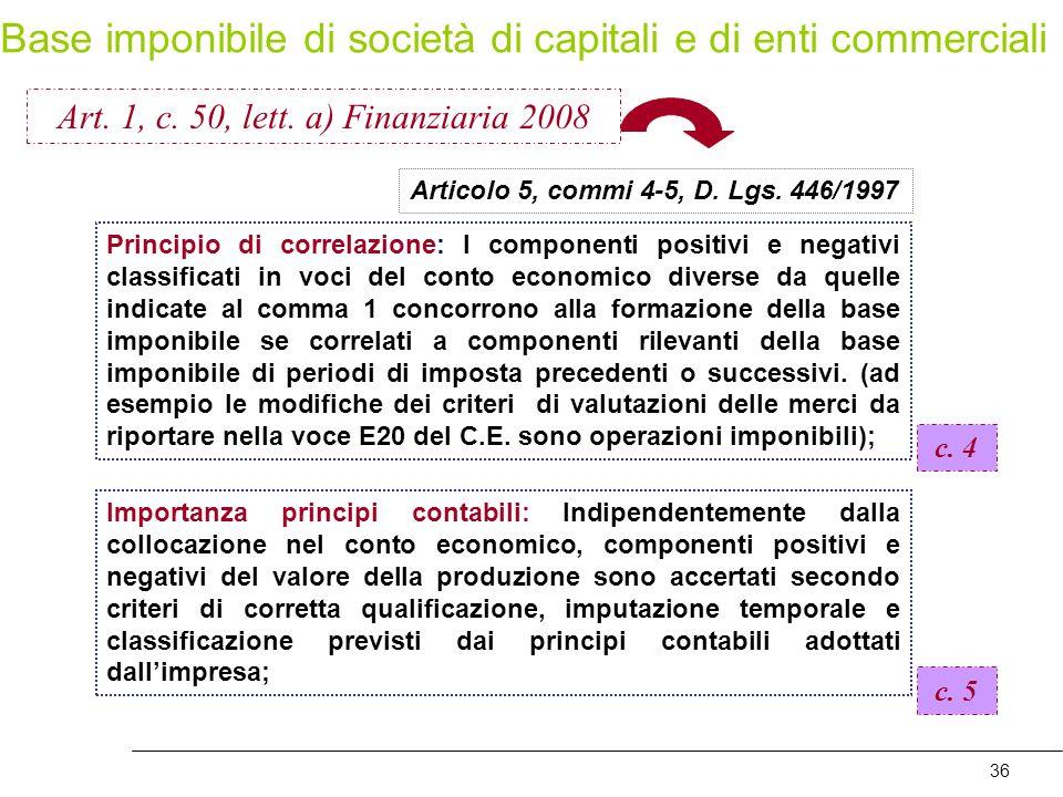 Art. 1, c. 50, lett. a) Finanziaria 2008