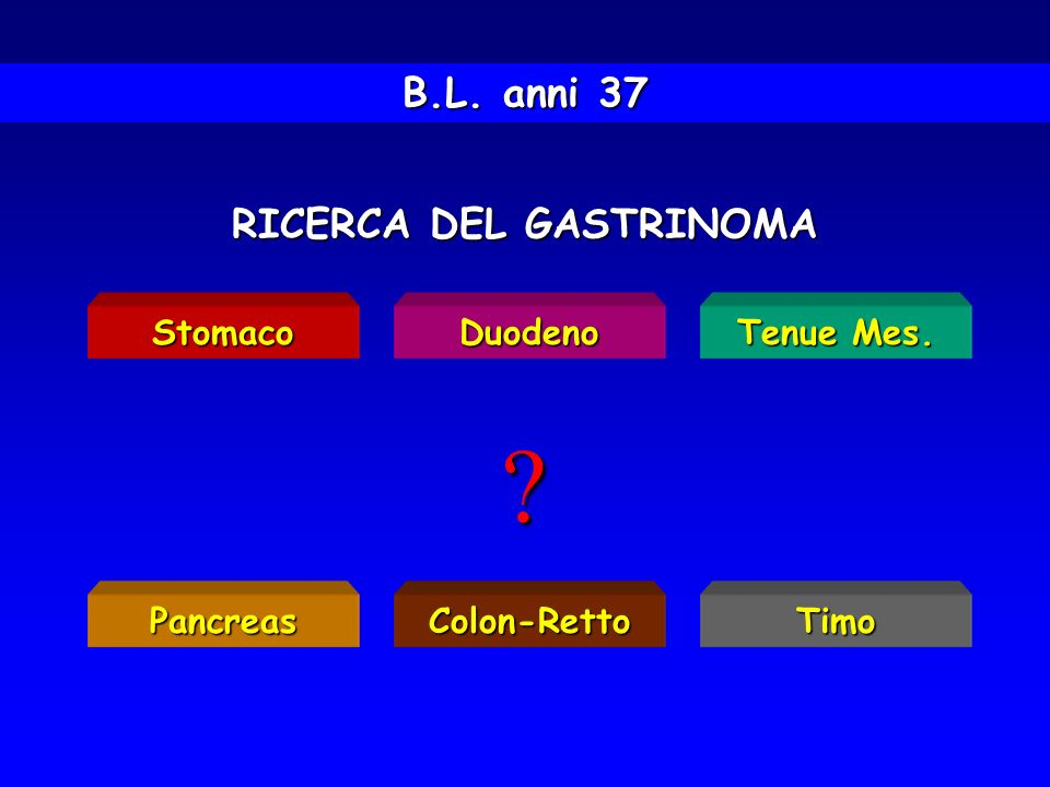 RICERCA DEL GASTRINOMA