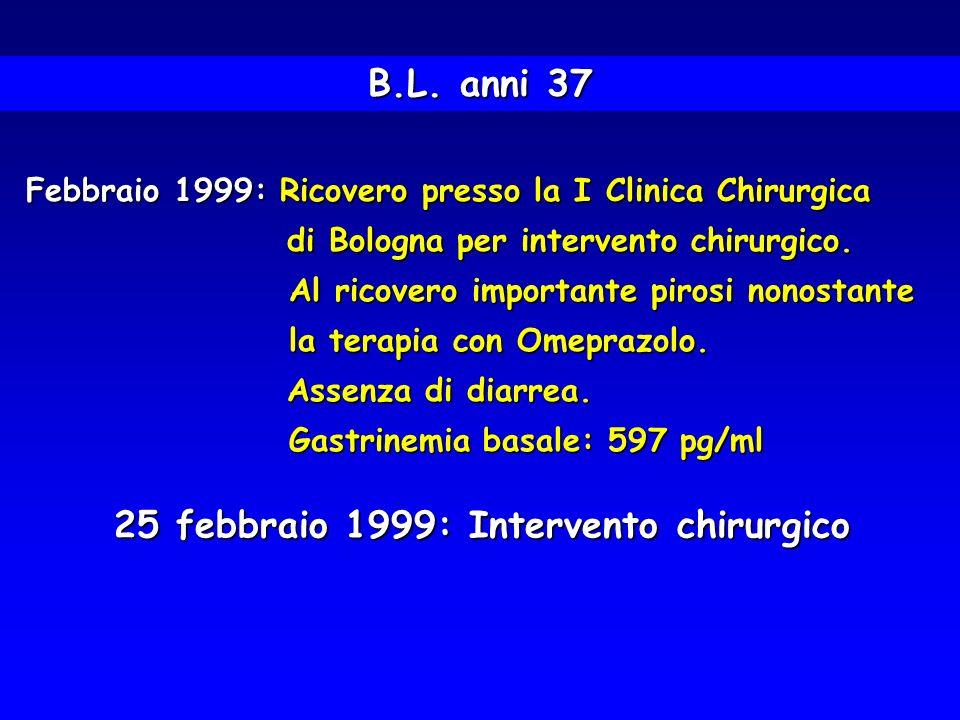 25 febbraio 1999: Intervento chirurgico