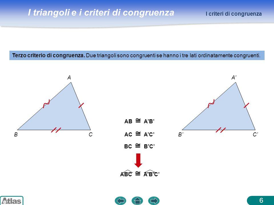 6 I criteri di congruenza