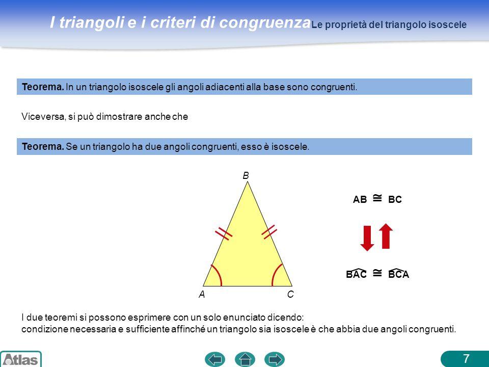 7 Le proprietà del triangolo isoscele