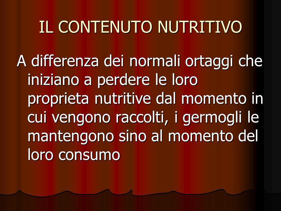 IL CONTENUTO NUTRITIVO