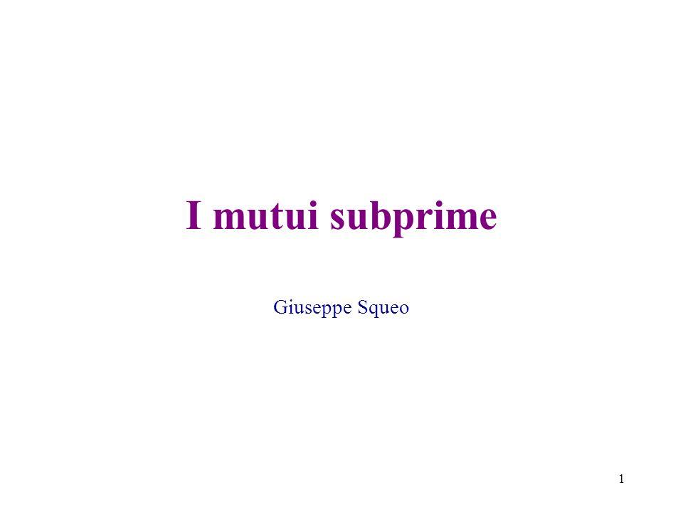 I mutui subprime Giuseppe Squeo