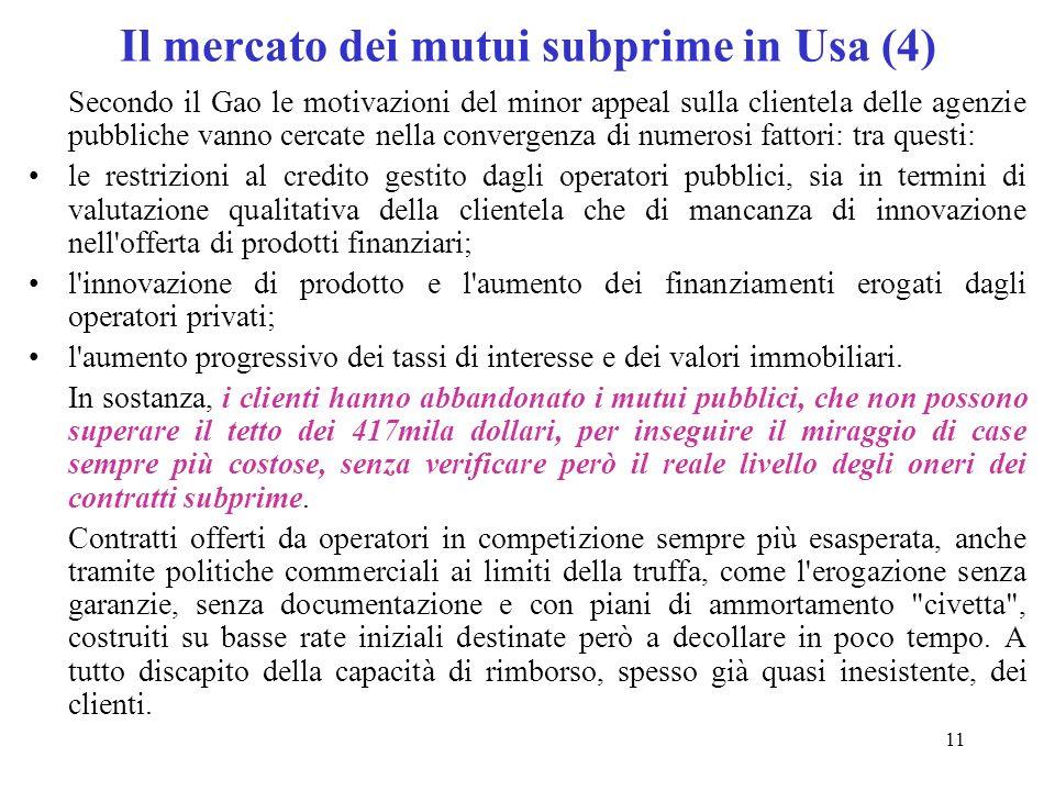 Il mercato dei mutui subprime in Usa (4)