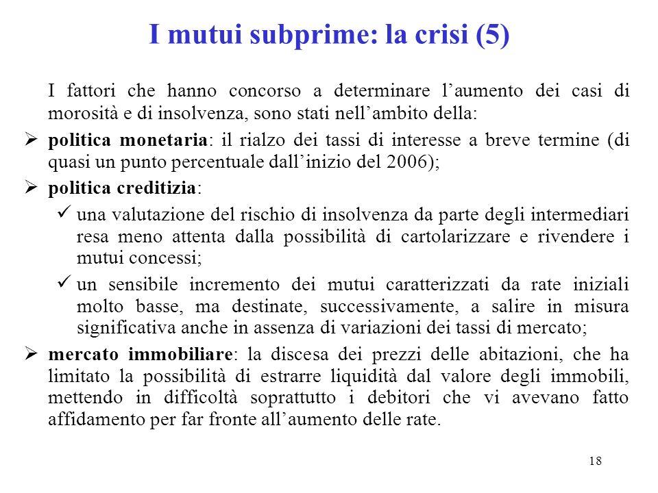 I mutui subprime: la crisi (5)