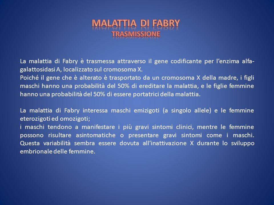 MALATTIA DI FABRY TRASMISSIONE