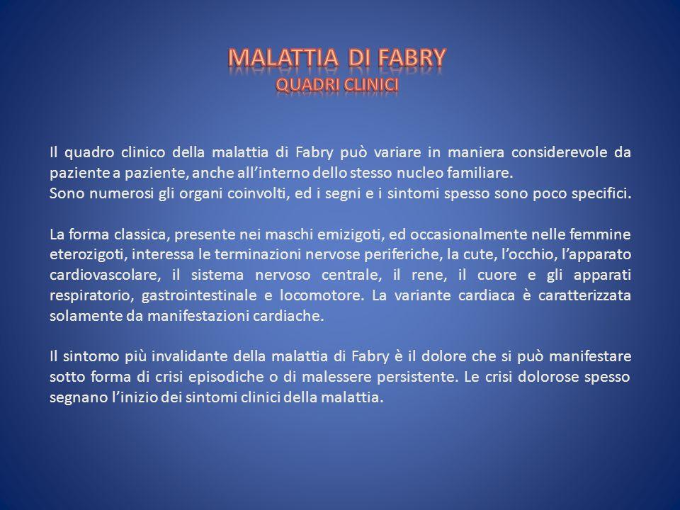 MALATTIA DI FABRY QUADRI CLINICI