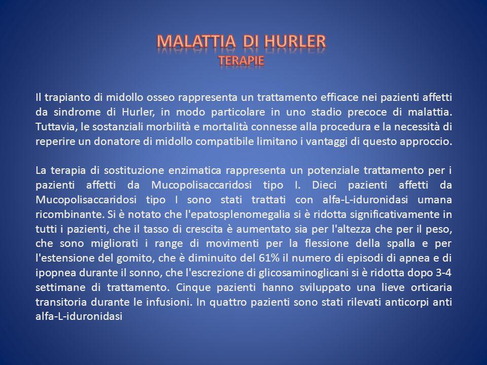 MALATTIA DI HURLER TERAPIE